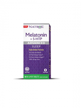 Melatonina 5-HTP Advanced Sleep Time Release 60 tabletas Natrol