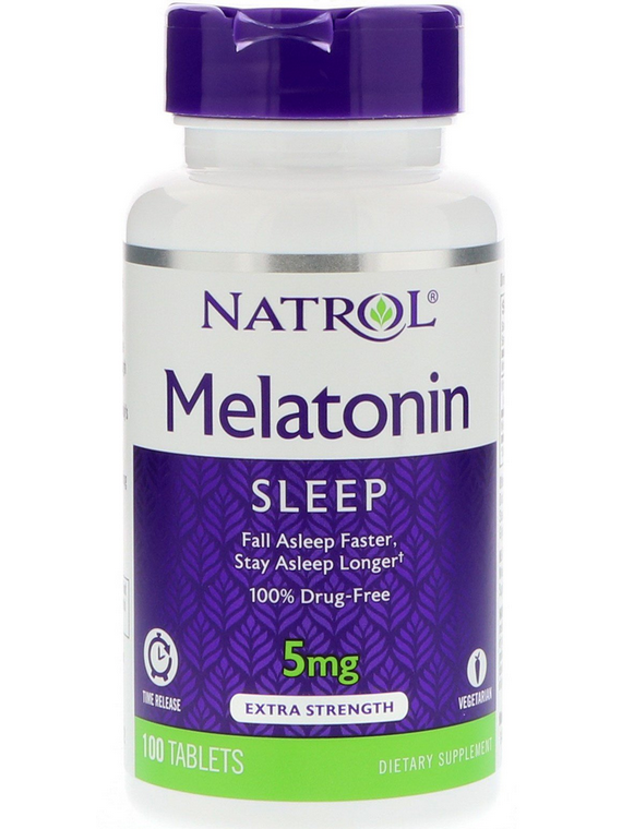 Melatonina 5mg time release 100 tabletas Natrol