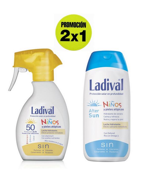 Leche Proteccion FPS50 Spray + Aftersun promoción 2x1 Ladival