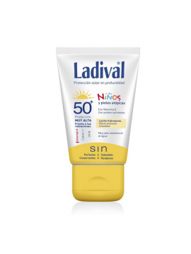 Leche Proteccion Solar FPS50 Niños 150ml Pieles Atopicas Ladival