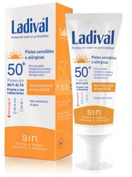 Crema Protección Solar FPS50+ Pieles Sensibles Alergicas con Color Ladival