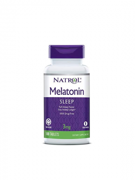 Melatonina 3mg Time Release 100 tabletas Natrol