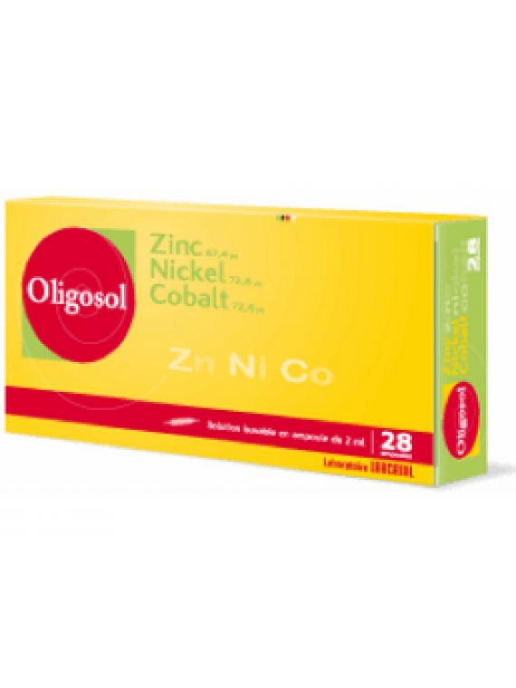 Oligosol Zinc Nickel Cobalt 28 ampollas Labcatal
