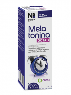 Melatonina gotas 30ml Nutritional System Cinfa