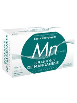 Oligoelemento Manganeso 30 ampollas Granions