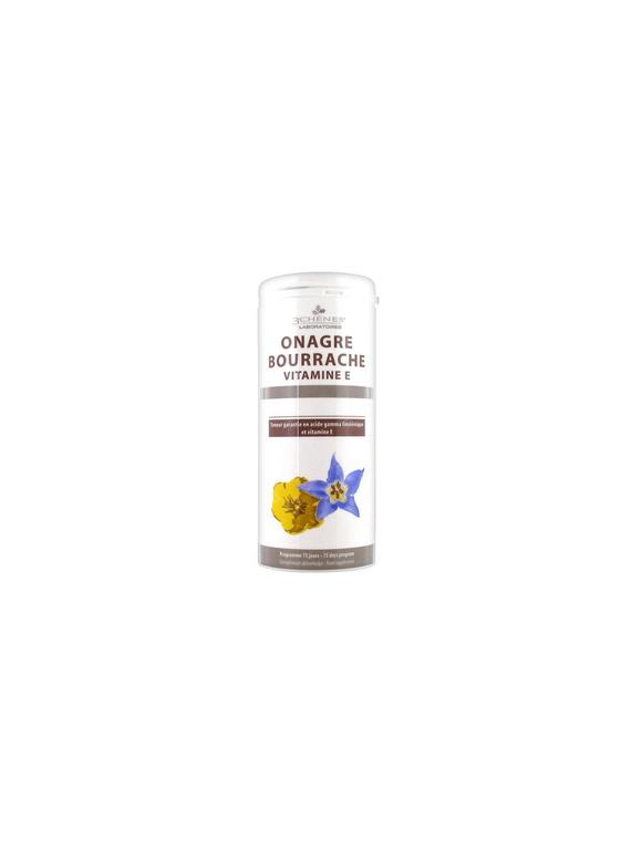 Aceite de Onagra y Borraja 150 cápsulas 3 Chênes