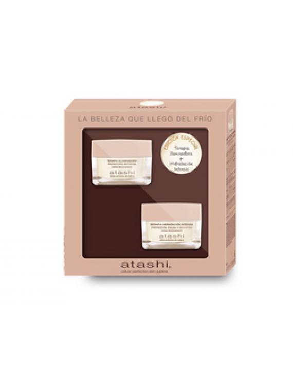 Cofre Cellular Perfection Crema Terapia Iluminadora + Crema Hidratación Intensa Atashi