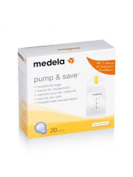 Pump & Save Bolsas Leche Materna 20 unidades Medela