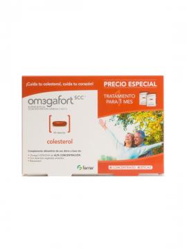 Omegafort Colesterol 60 cápsulas tratamiento 1 mes Ferrer