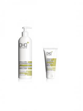 Promo Emulsión Oleohidratante 380ml + Crema de Manos + Gel de Baño Oho