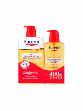 Gel ducha Oleogel PH5 Family Pack 1000ml + 400ml GRATIS Eucerin