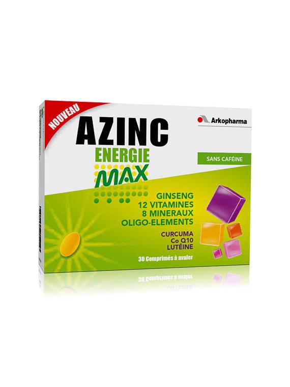 Azinc Energie Max 30 comprimidos Arkopharma