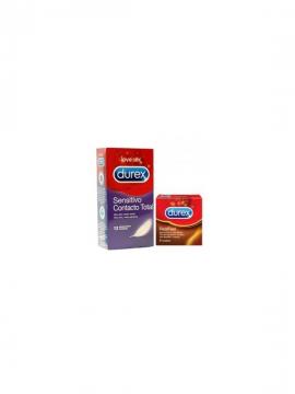 Preservativos Sensitivo Contacto Total 12 unidades + regalo Real Feel 3 unidades Durex