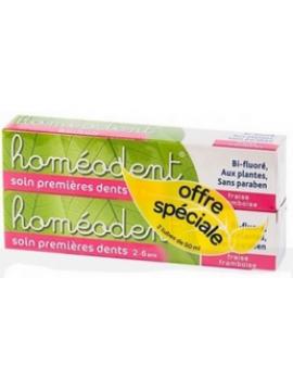 Homeodent duplo primeros dientes (fresa/frambuesa) Boiron