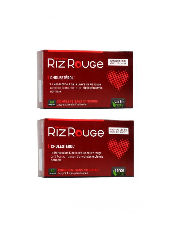 Riz Rouge anticolesterol 120 comprimidos Santé Verte