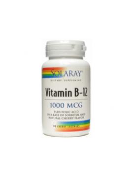 Vitamina b-12 + ácido fólico 1000mcg 90 comp Solaray