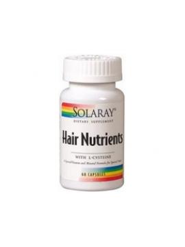Hair Nutrients l-cisteína 60 cápsulas Solaray