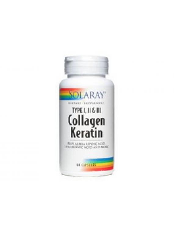 Collagen keratin 60 cápsulas Solaray