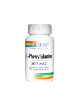 L-fenilalanina 500mg 60 cápsulas Solaray