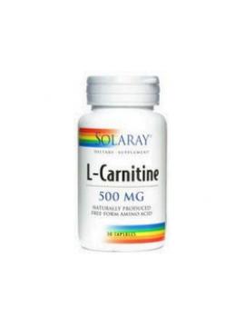 L-carnitina 500mg 30 cápsulas Solaray