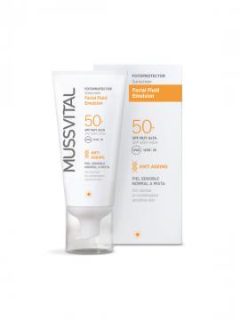 Facial Fluid Emulsión SPF50+ 50ml Mussvital