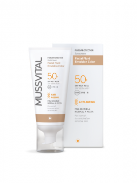 Facial Fluid Emulsión Color SPF50+ 50ml Mussvital