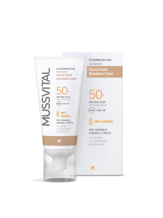 Facial Fluid Emulsión Color SPF50+ 50ml Mussvital