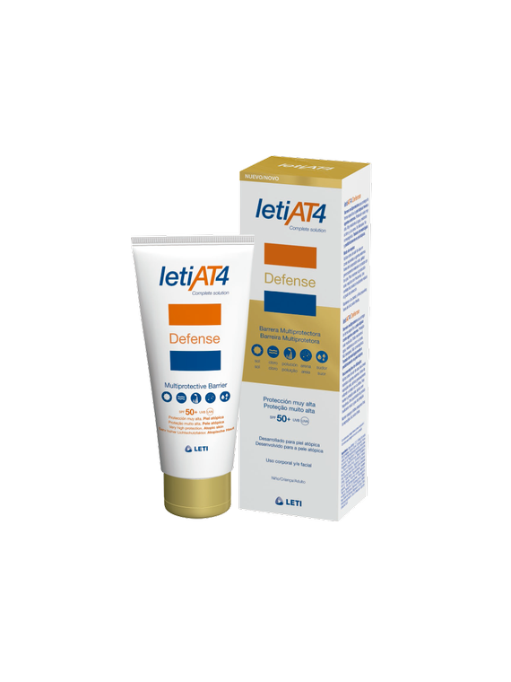 Leti AT4 Defense Barrera Multiprotectora SPF50+ piel atópica 100ml Leti