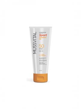 Sport Transparent Gel SPF50 200ml + obsequio desodorante Mussvital