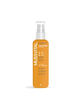 Spray Loción SPF15 protección media 200ml Mussvital
